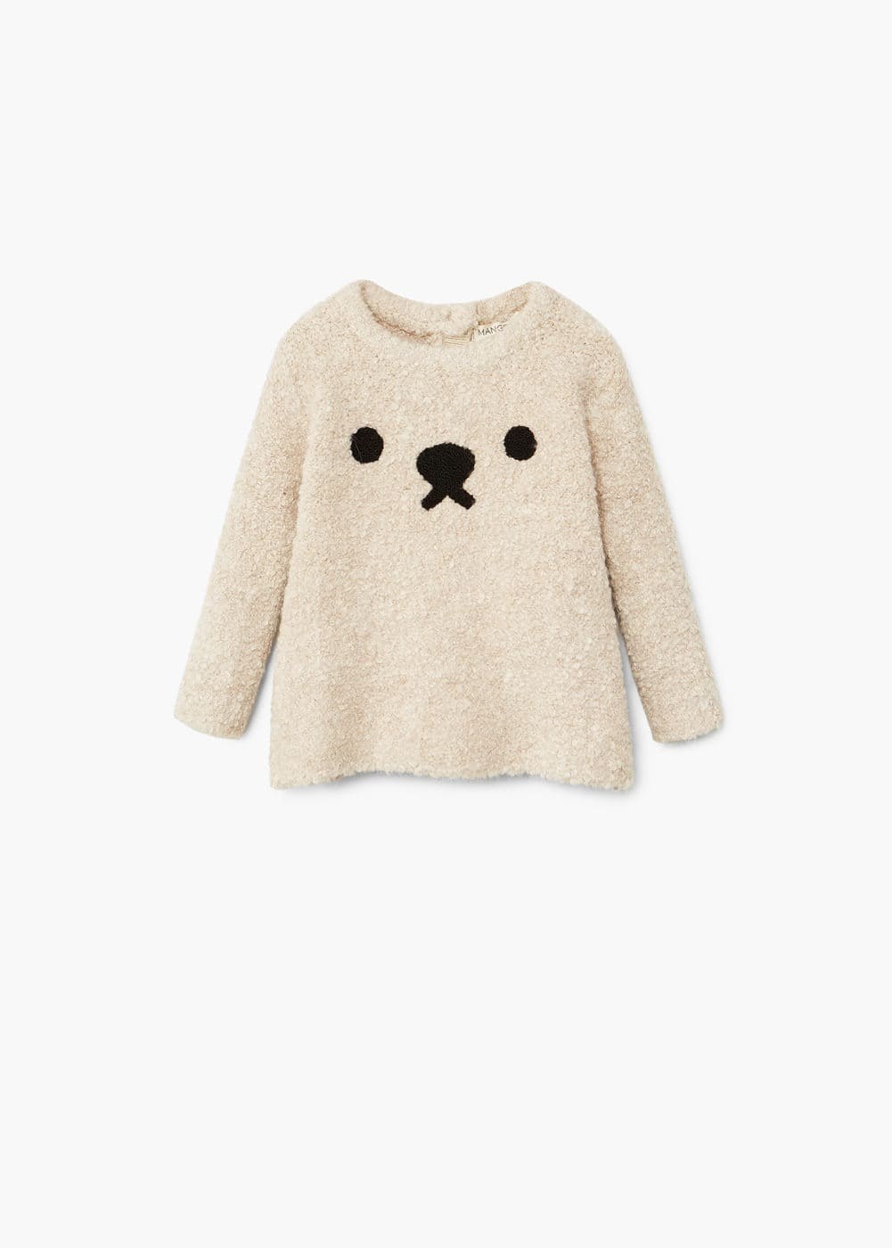 Textured bear sweater | MANGO