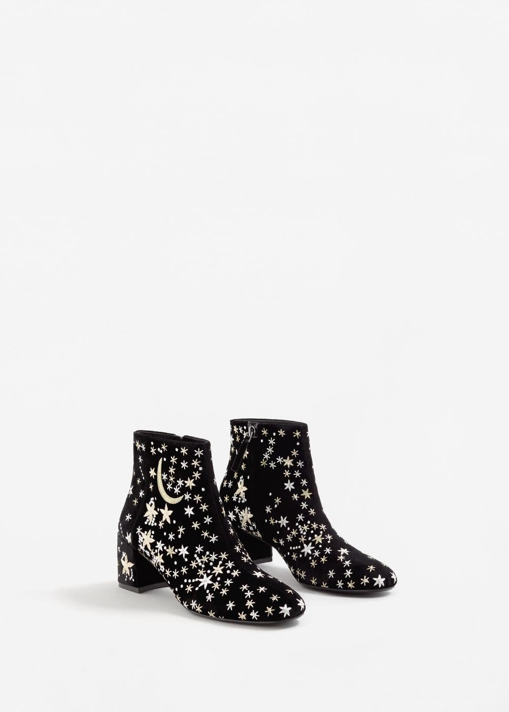 Stars embroidered ankle boots | MANGO