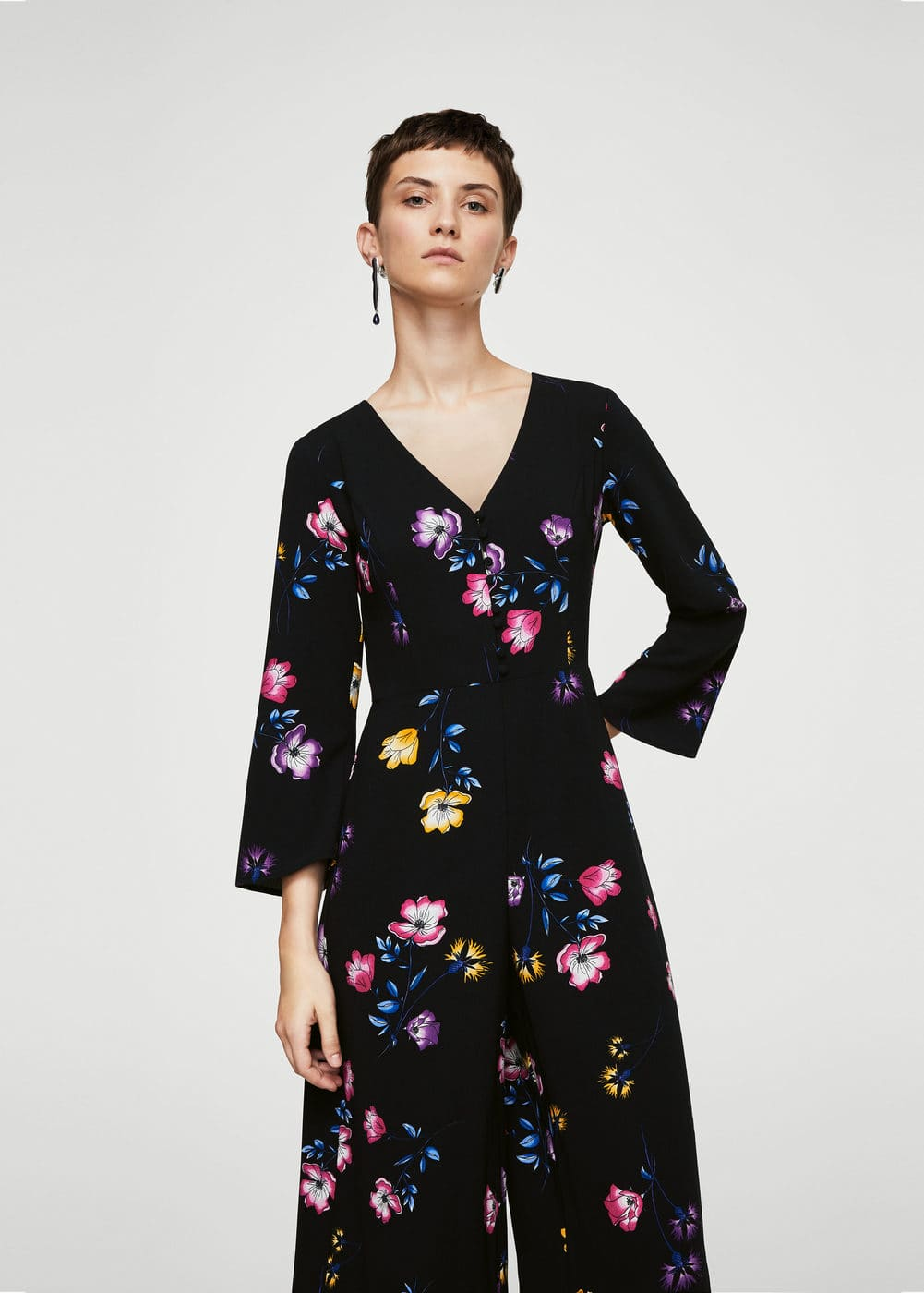 Floral long jumpsuit | MANGO
