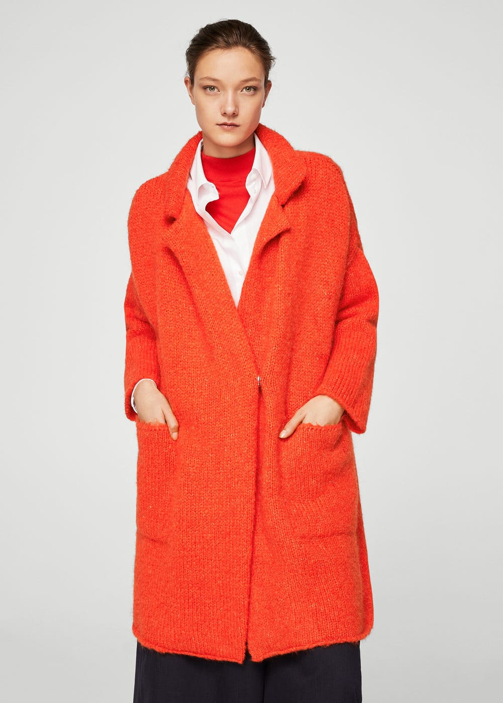 Mohair knit coat | MANGO