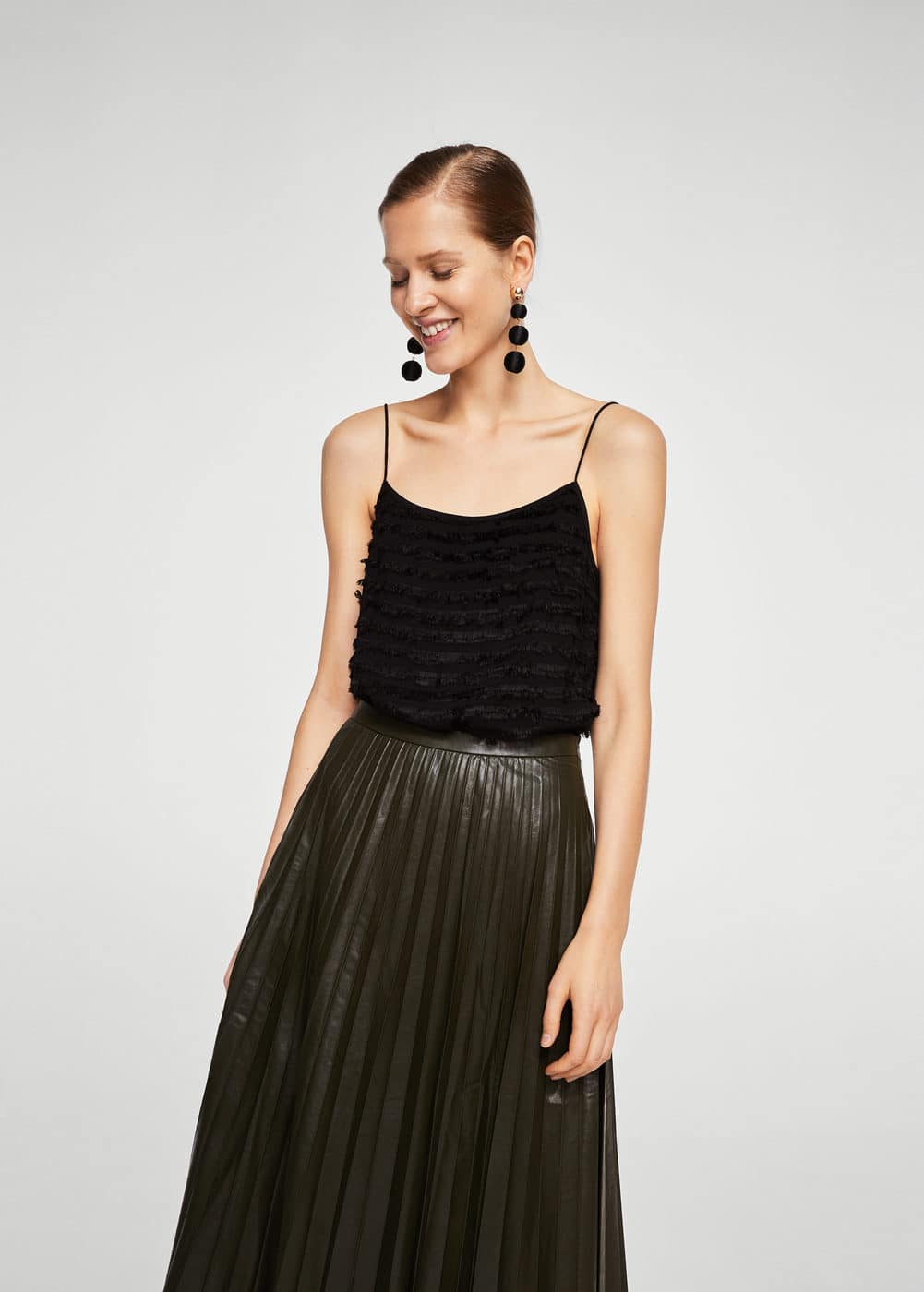 Fringed panel top | MANGO