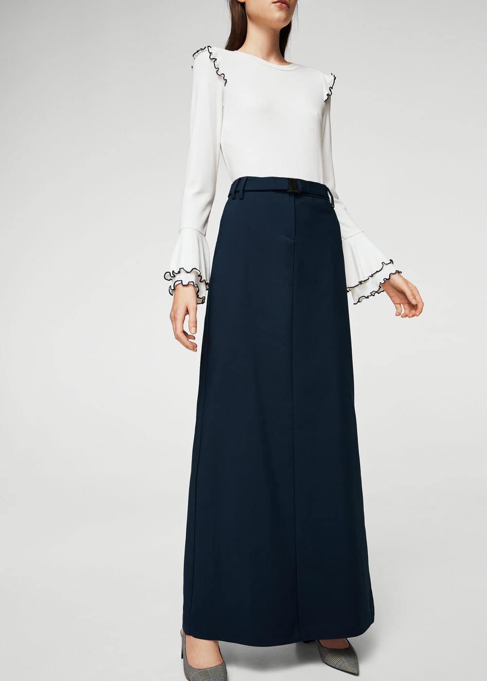 Cotton long skirt | MANGO