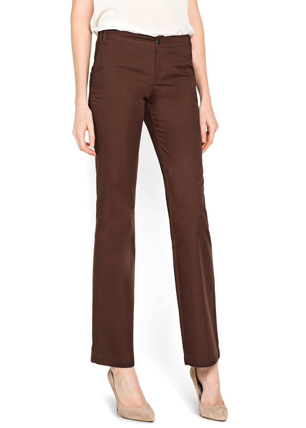 Straight-fit chino trousers | MANGO