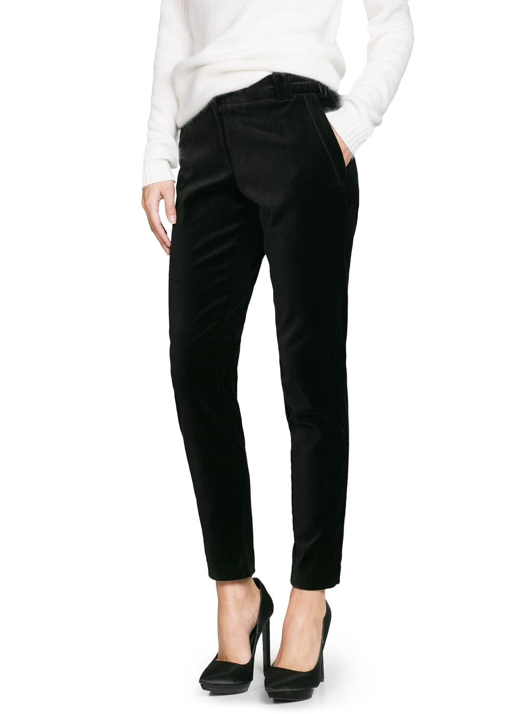 Velvet suit trousers | MANGO