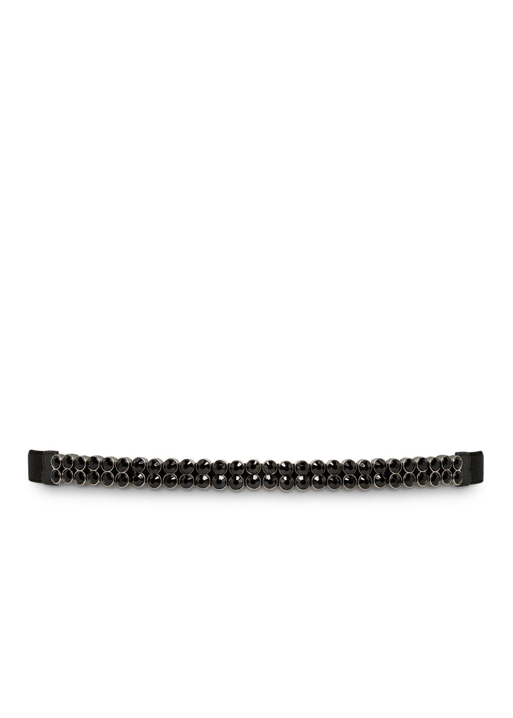 Faceted crystals elastic belt | MANGO