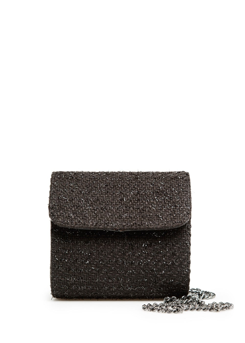 Bouclé box shoulder bag | MANGO