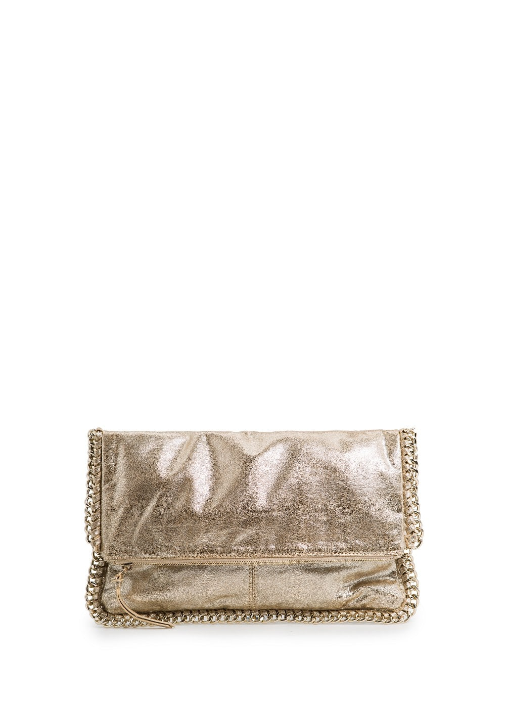 Chain metallic folded clutch | MANGO