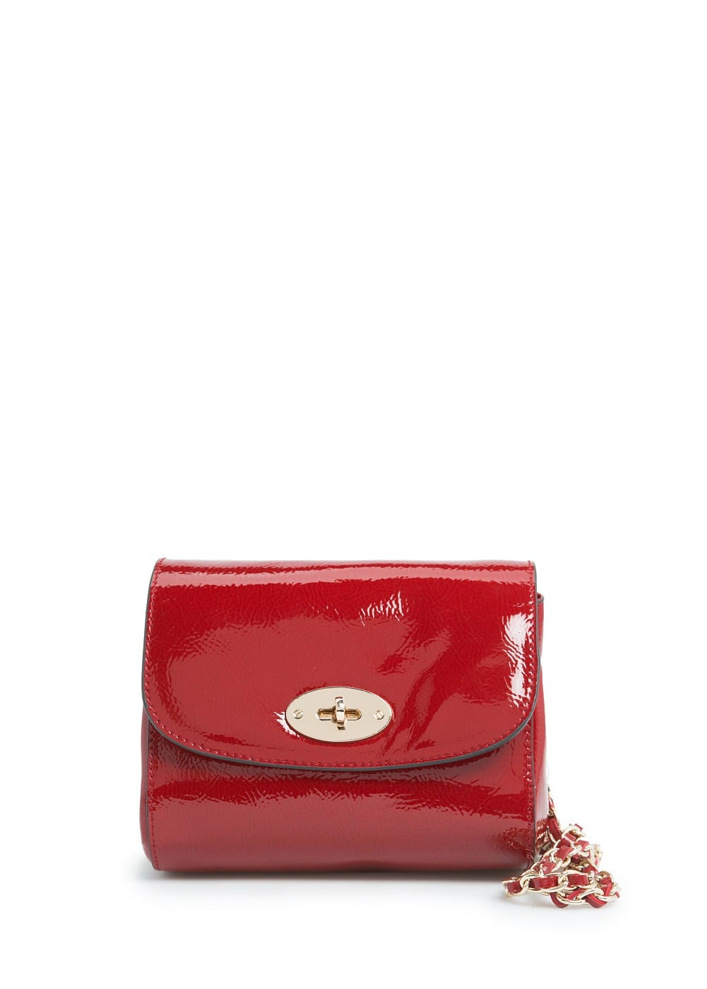 Patent shoulder bag | MANGO