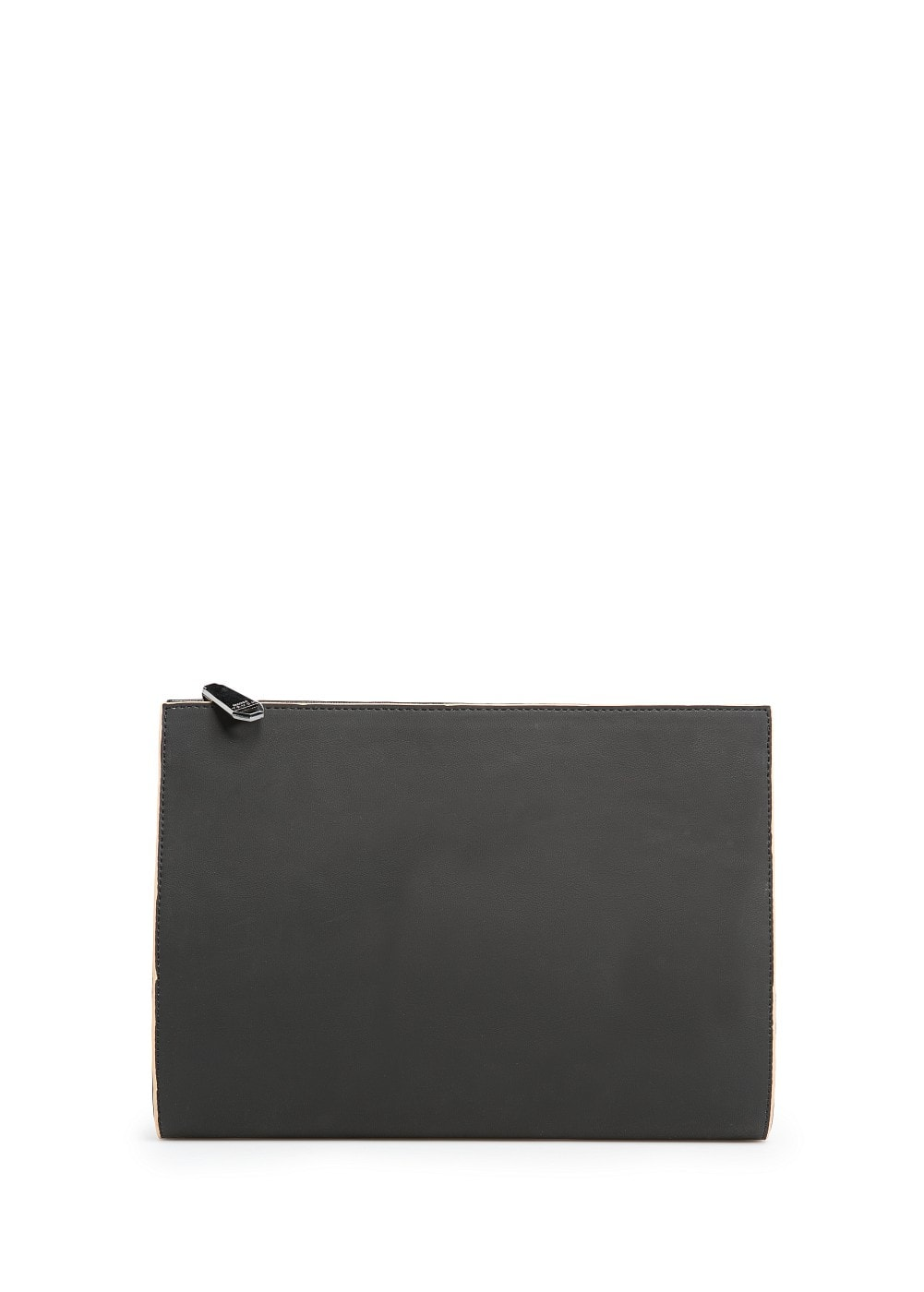 Leather effect clutch | MANGO