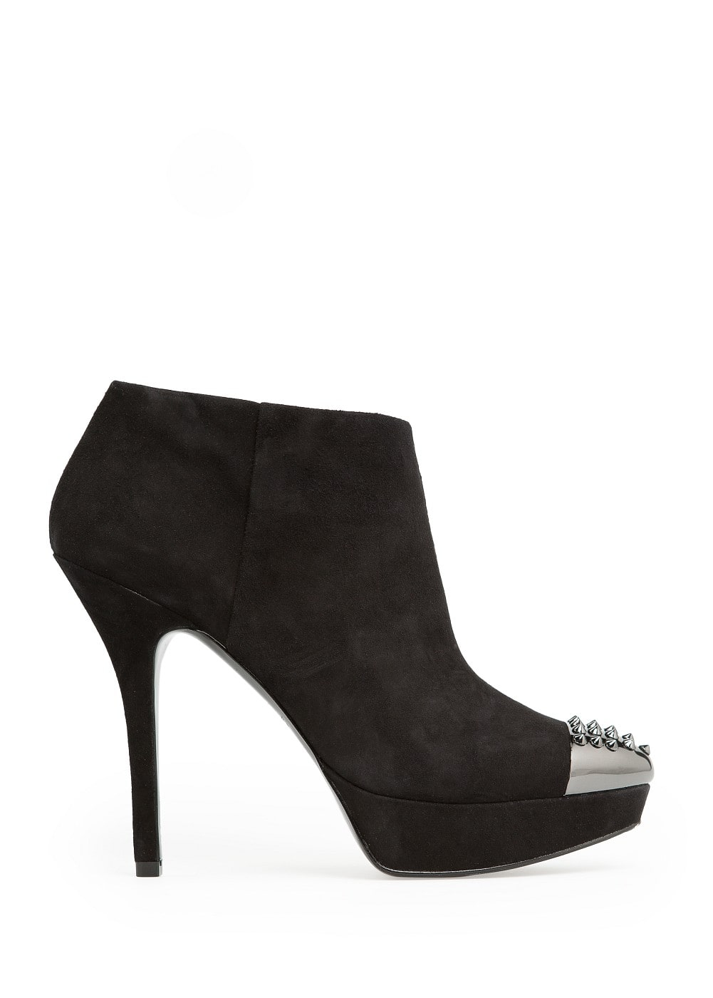 Metal toe cap suede ankle boots | MANGO