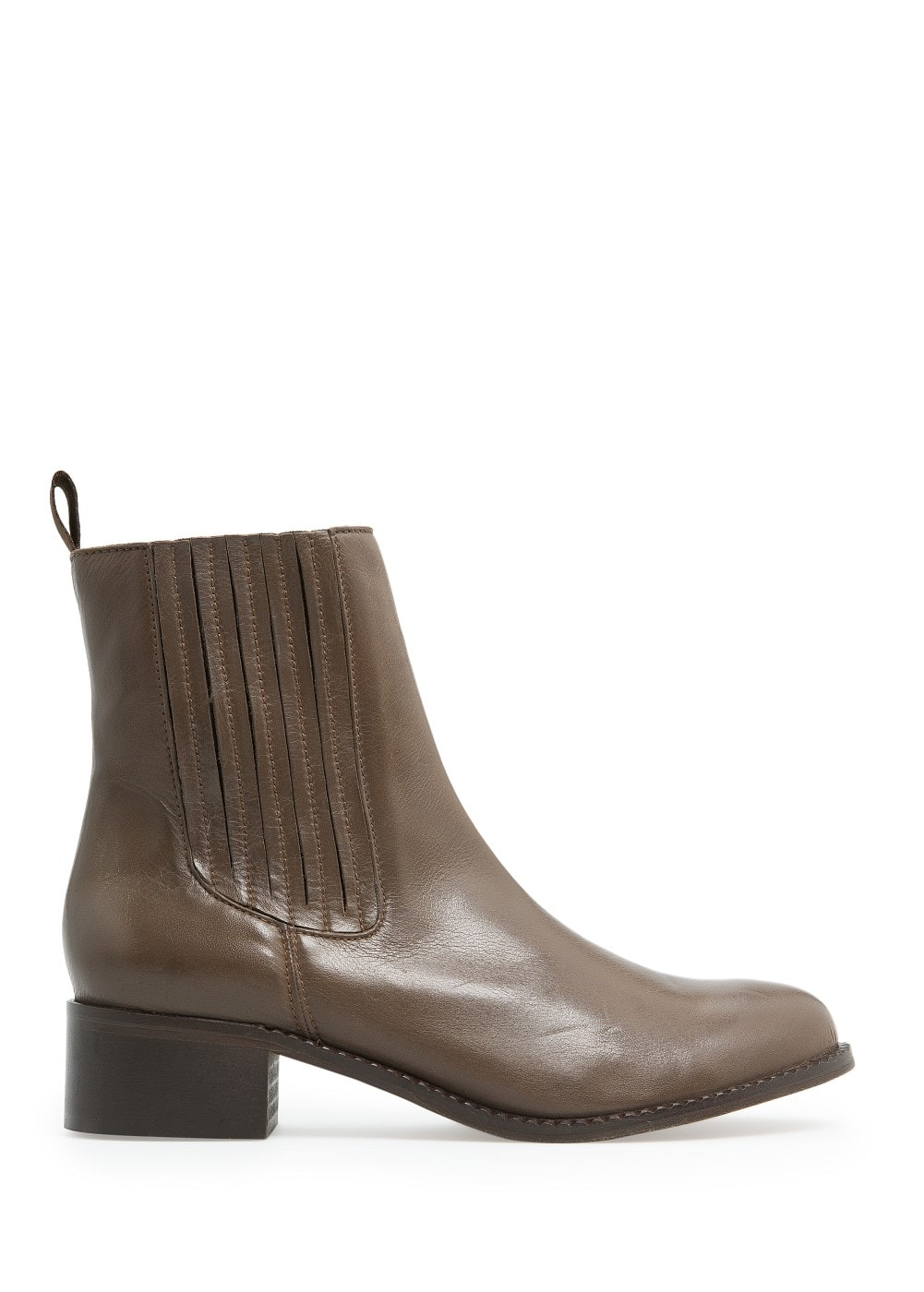 Bottines chelsea cuir | MANGO
