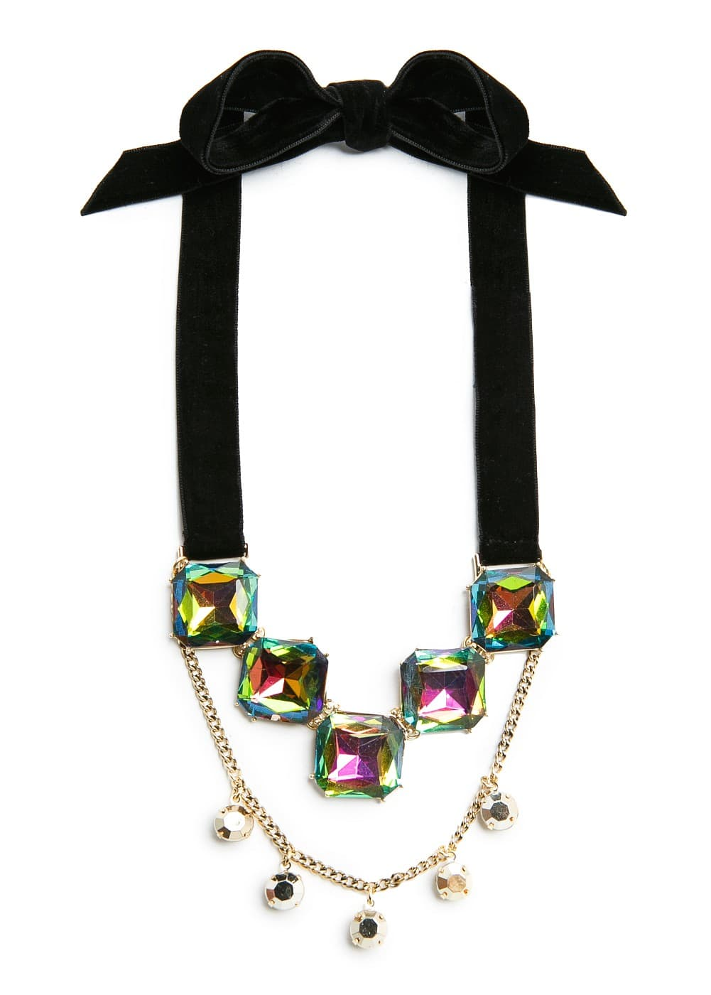 Velvet ribbons necklace | MANGO