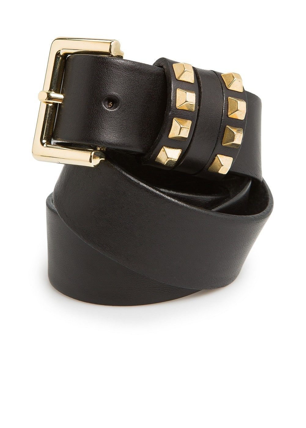 Triple keeper leather belt | MANGO