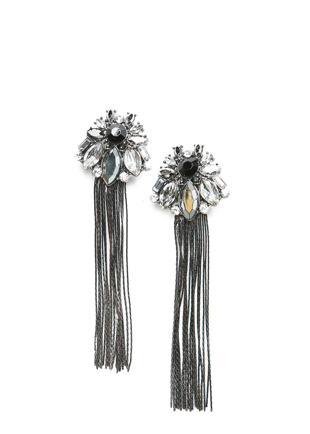 Crystal drop earrings | MANGO
