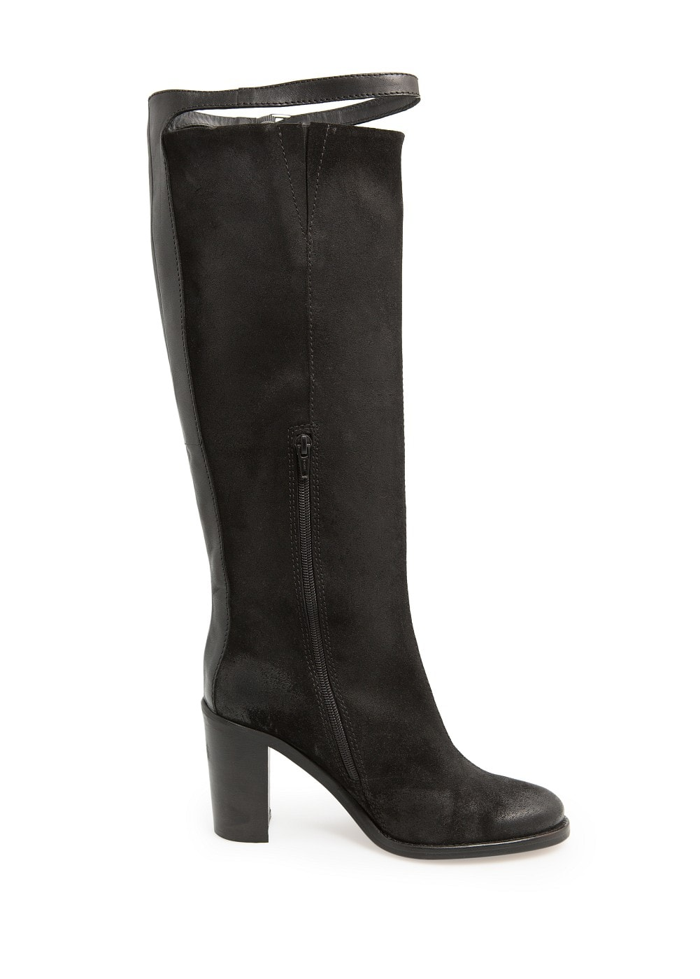 Coated leather knee boots | MANGO