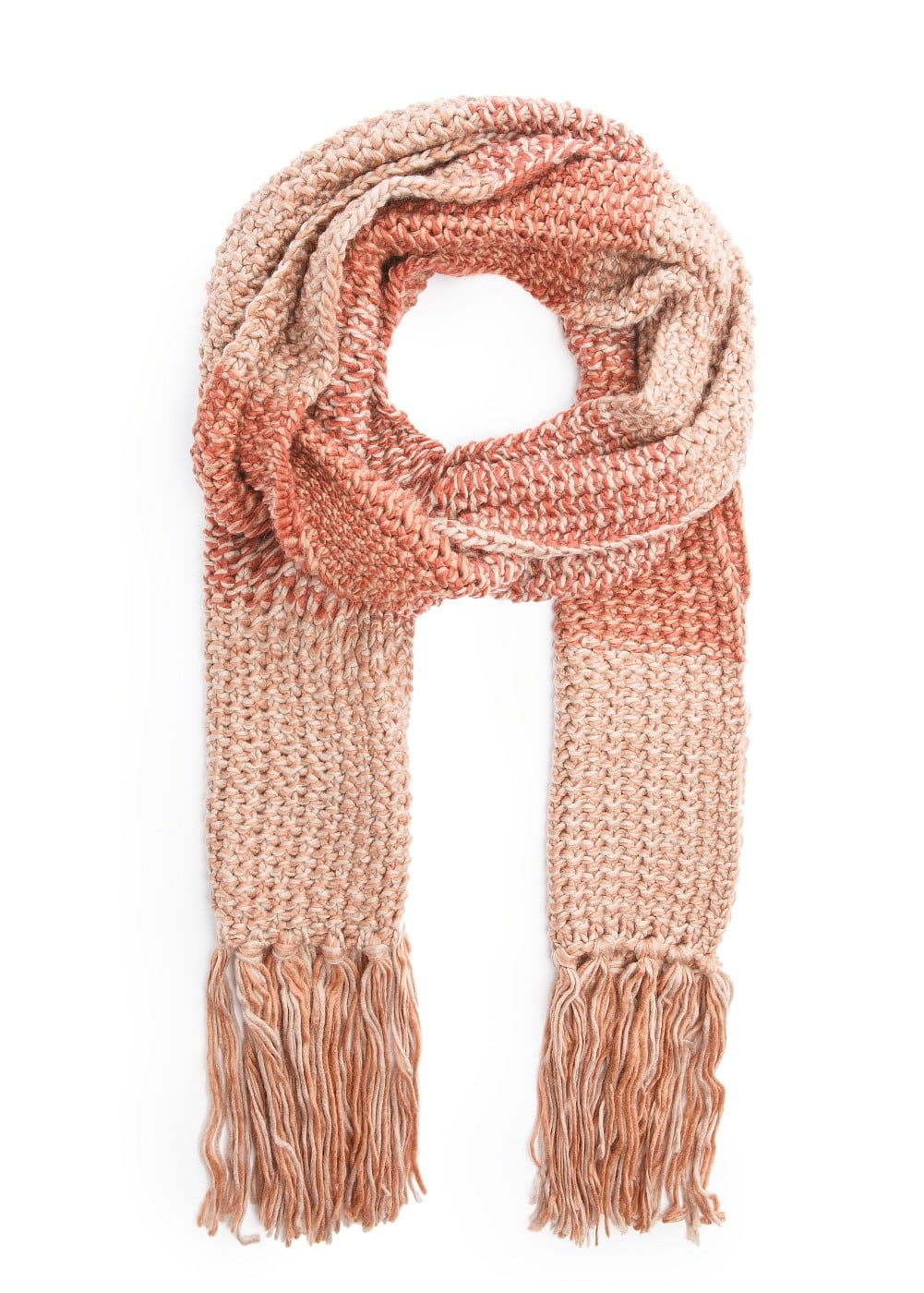 Stripes design knitted scarf | MANGO MAN