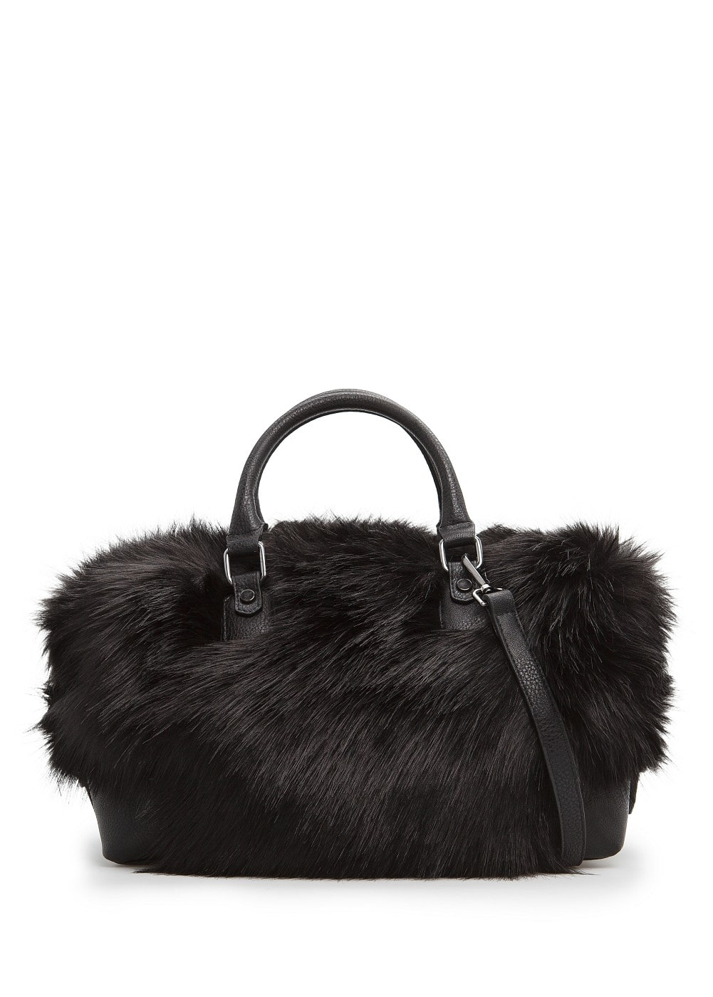 Faux fur tote bag | MANGO