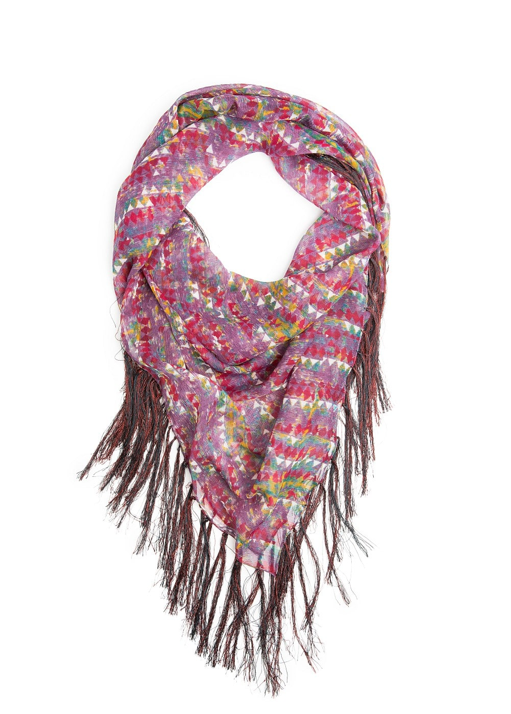 Multicolored ethnic scarf | MANGO