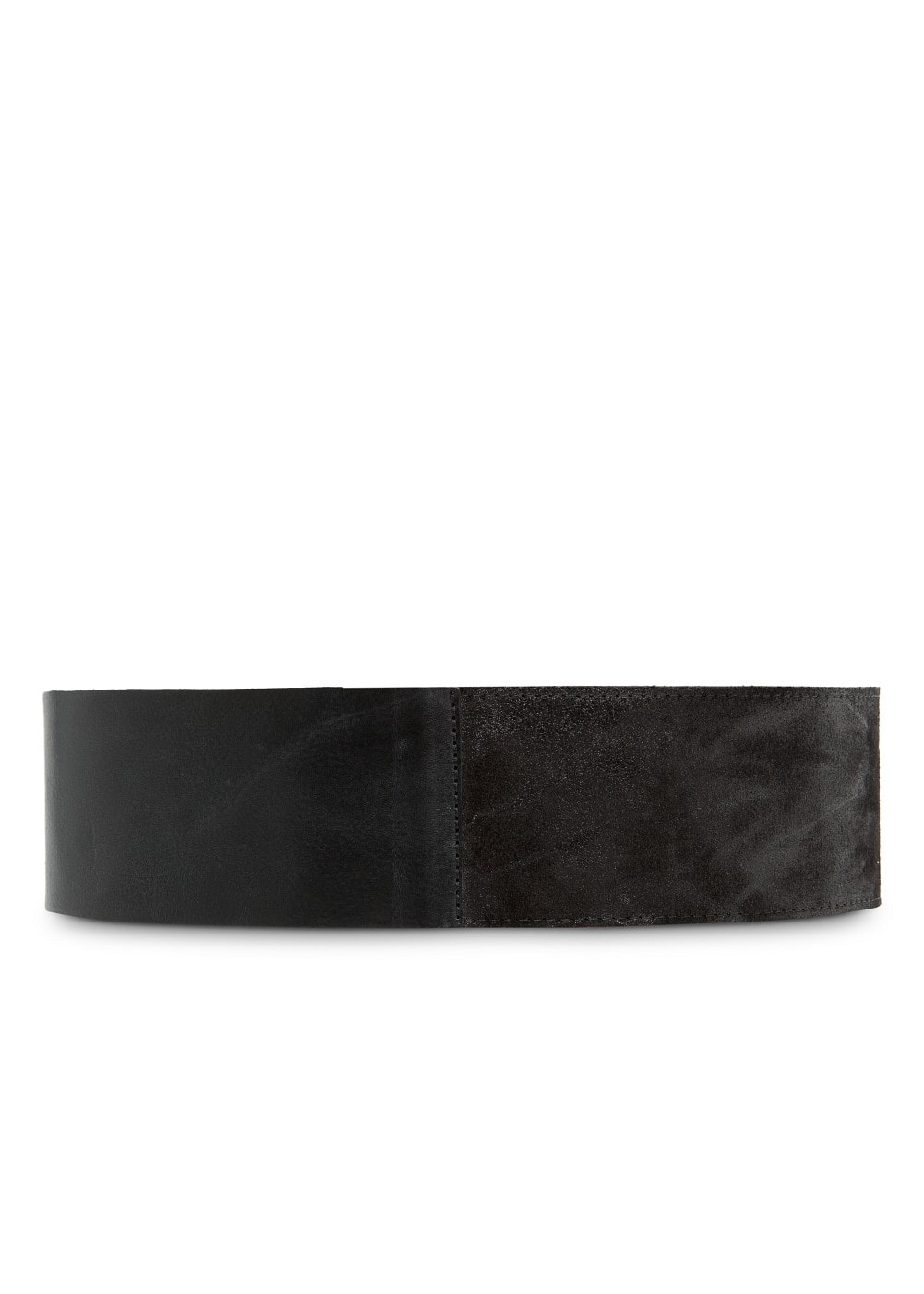 Wide leather belt | MANGO