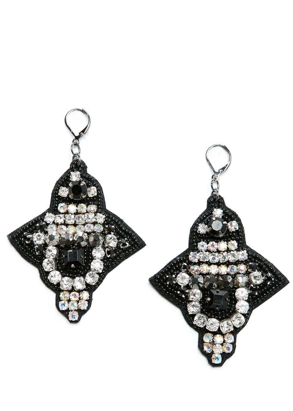Beaded velvet earrings | MANGO