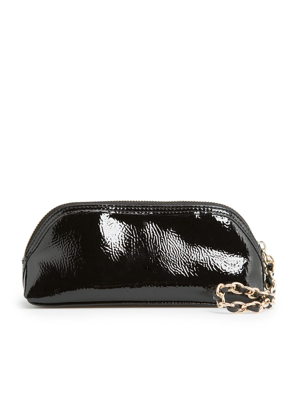 Chain patent cosmetic bag | MANGO