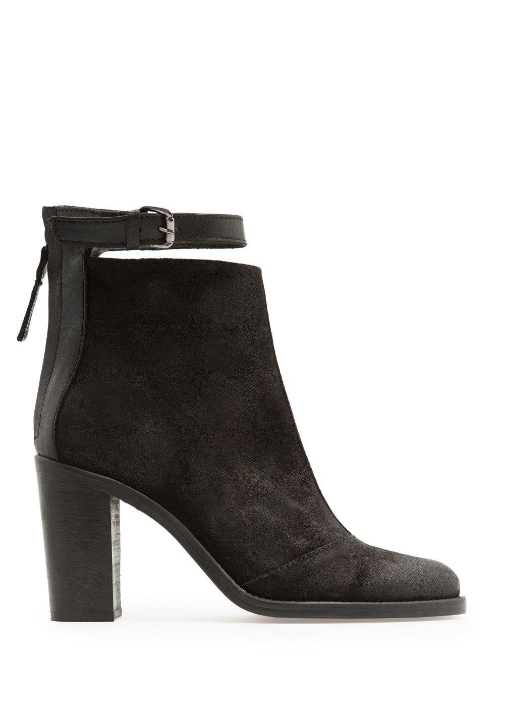 Coated suede ankle boots | MANGO