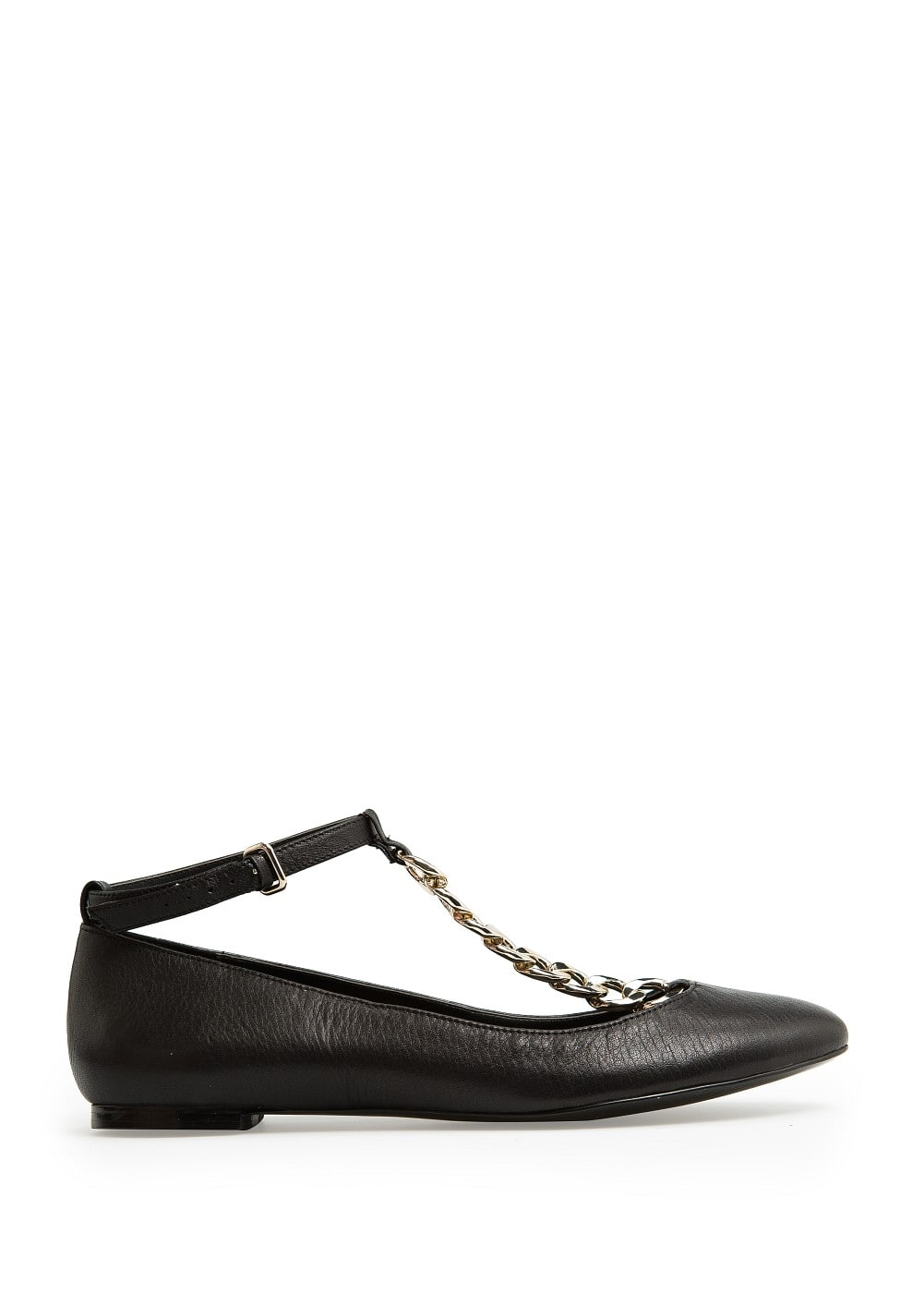 Chain leather shoes | MANGO