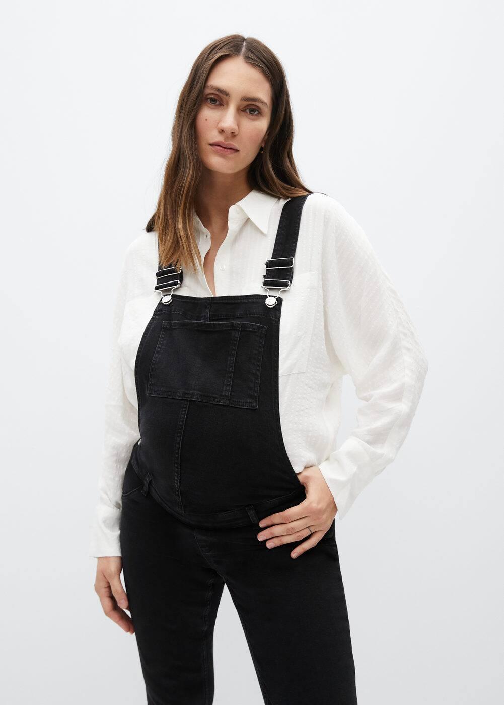 Stylische Schwangerschaftslatzhose  Maternity Jeans-Latzhose