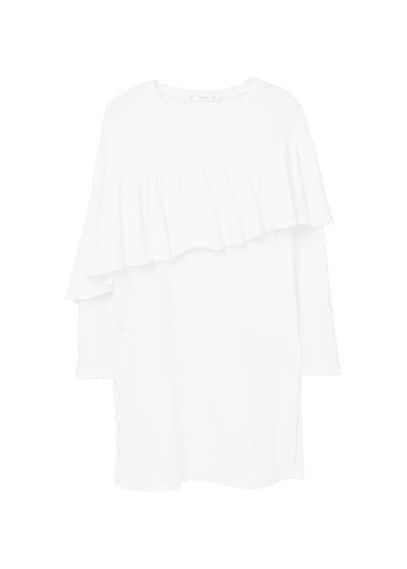 MANGO Ruffle long t-shirt