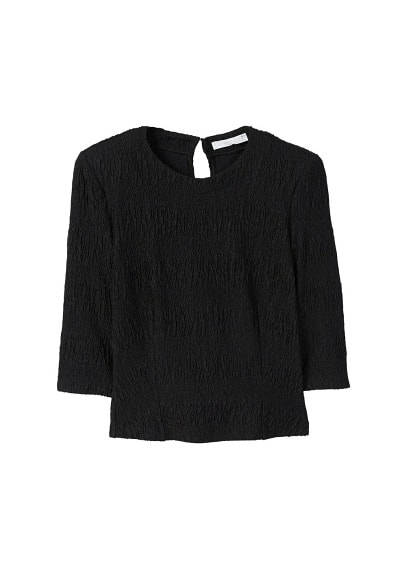 MANGO Textured shoulder pad t-shirt