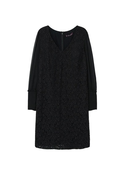 Violeta BY MANGO Combined lace dress