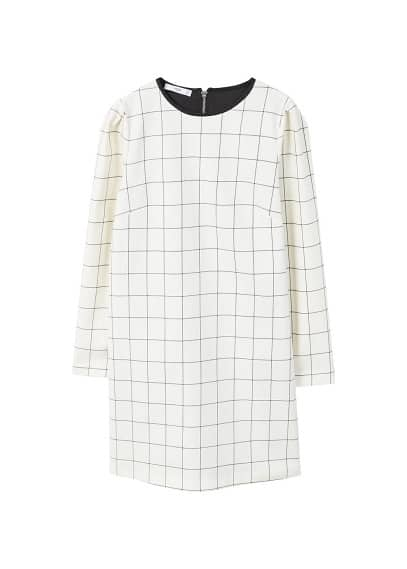 MANGO Check shift dress