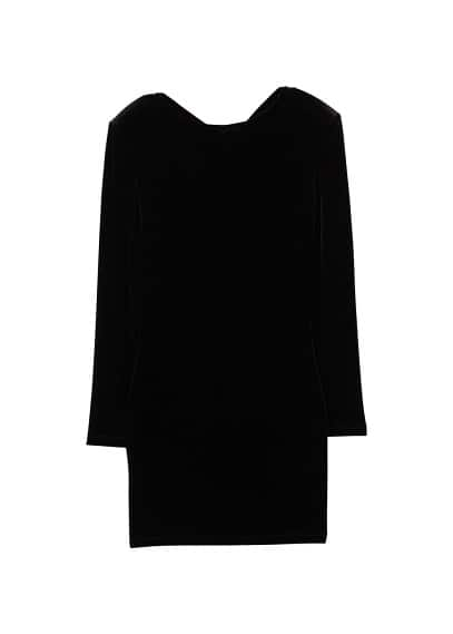 MANGO Shoulder pad velvet dress