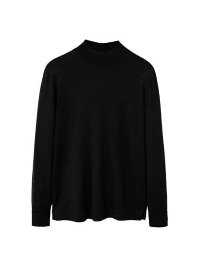 Pull-over laine col montant
