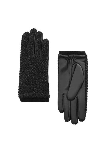 MANGO Combined knitted glove