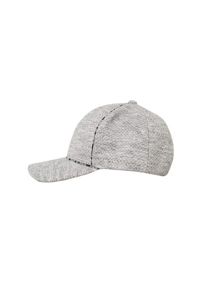 MANGO Flecked cotton-blend cap