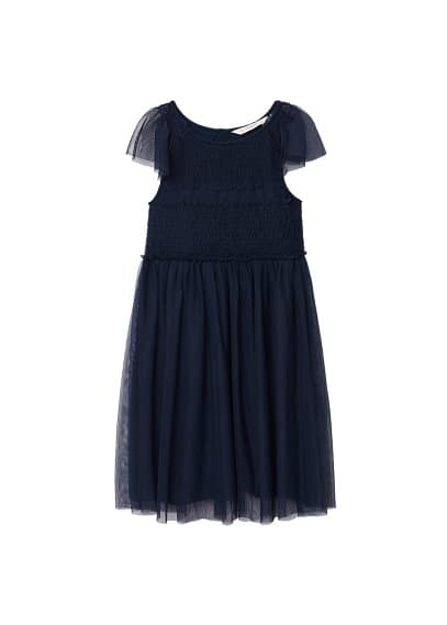 MANGO KIDS Tulle appliqué dress
