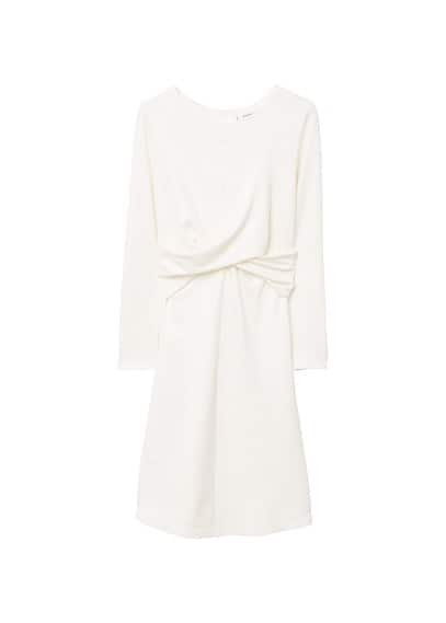 MANGO Draped detail dress