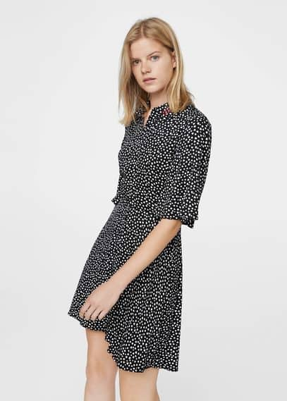 MANGO Printed flared dress