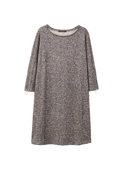 Violeta BY MANGO Metallic flecked dress