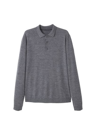 Pull-over en laine boutons