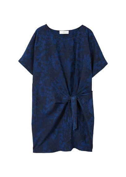 MANGO Bow jacquard dress