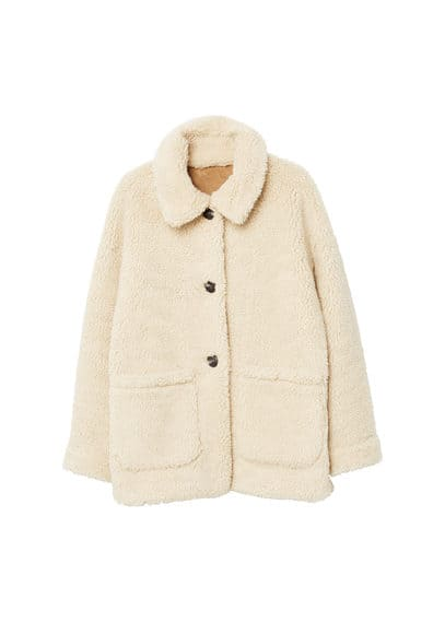 Faux shearling-lined coat