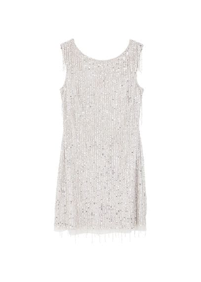 MANGO Sequin beaded dress