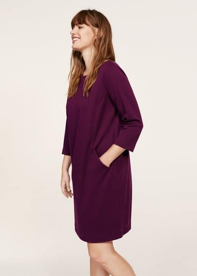 Violeta BY MANGO Textured flowy dress