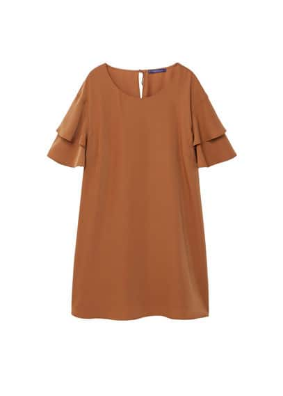 Violeta BY MANGO Ruffled sleeve dress