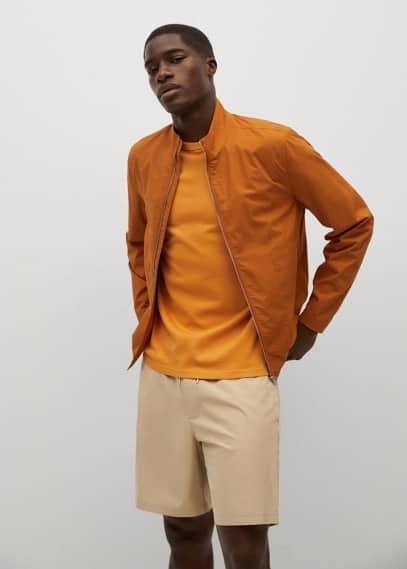 Мужские шорты Mango (Манго) Бермуды-джоггеры из хлопка Tencel - Venise