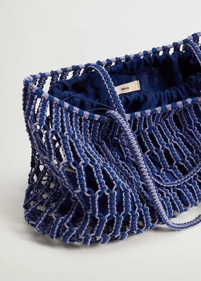 Сумка Mango (Манго) Плетеная сумка-шопер - Embolo