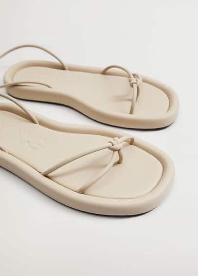 Женские ботинки Mango (Манго) Босоножки с перекрещенными ремешками - Velero