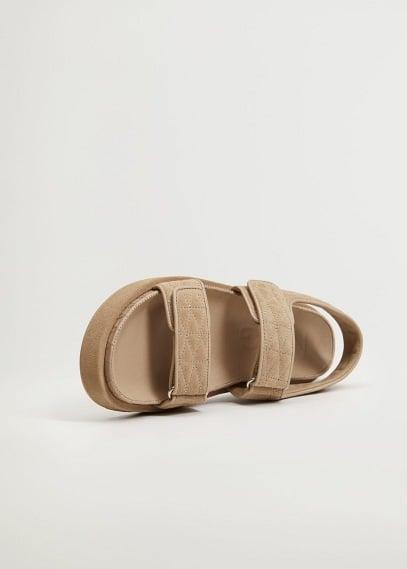Женские ботинки Mango (Манго) Сандалии с дутыми ремешками  - Cat2